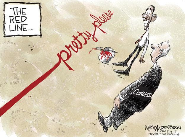 Nick Anderson  Nick Anderson's Editorial Cartoons 2013-09-04 warfare