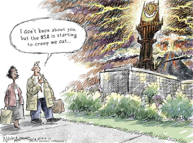 Cartoonist Nick Anderson  Nick Anderson's Editorial Cartoons 2013-09-08 national security