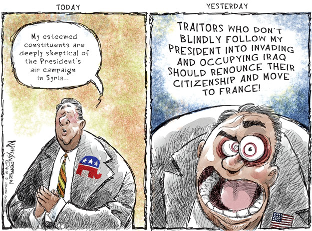 Cartoonist Nick Anderson  Nick Anderson's Editorial Cartoons 2013-09-10 Congress and Iraq