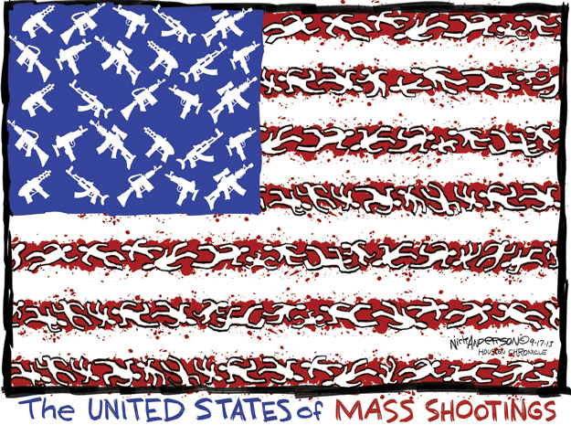 Cartoonist Nick Anderson  Nick Anderson's Editorial Cartoons 2013-09-17 assault weapon