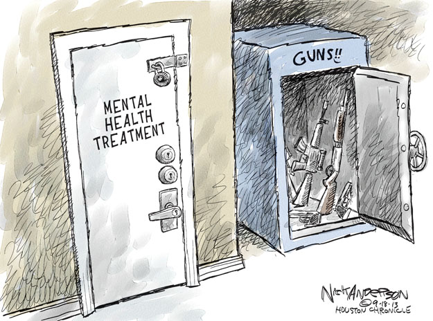Nick Anderson  Nick Anderson's Editorial Cartoons 2013-09-18 assault weapon