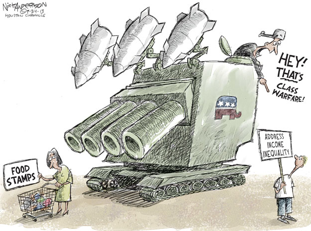 Cartoonist Nick Anderson  Nick Anderson's Editorial Cartoons 2013-09-24 inequality