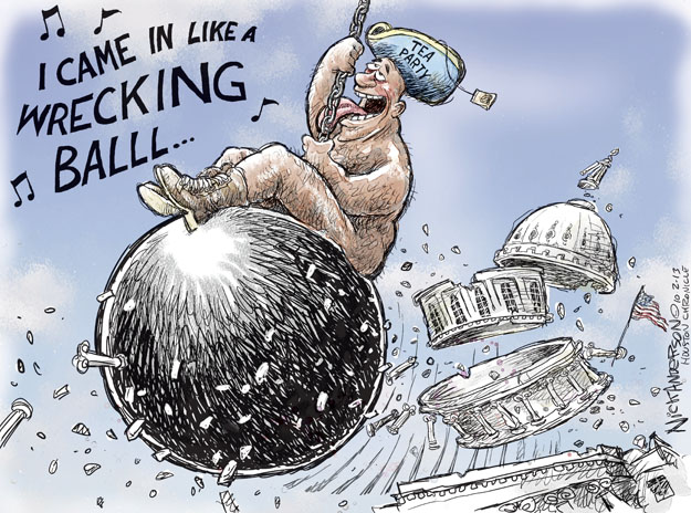 Cartoonist Nick Anderson  Nick Anderson's Editorial Cartoons 2013-10-02 tea party