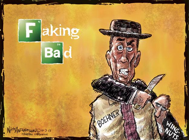 Faking Bad. Boehner. Wingnuts.