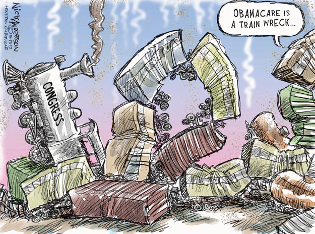 Cartoonist Nick Anderson  Nick Anderson's Editorial Cartoons 2013-10-13 health care policy
