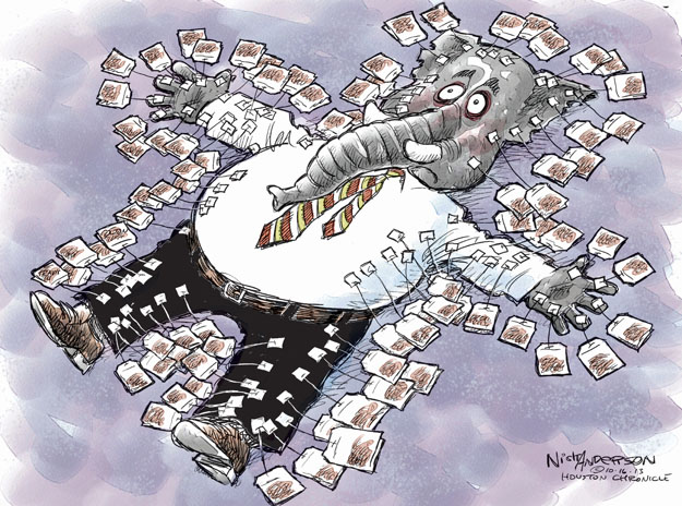 Cartoonist Nick Anderson  Nick Anderson's Editorial Cartoons 2013-10-16 tea party