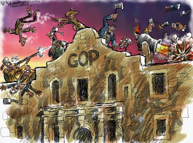 Nick Anderson  Nick Anderson's Editorial Cartoons 2013-10-17 republican party