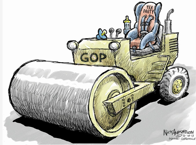 Cartoonist Nick Anderson  Nick Anderson's Editorial Cartoons 2013-10-18 tea party