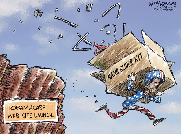 Cartoonist Nick Anderson  Nick Anderson's Editorial Cartoons 2013-10-23 health care policy
