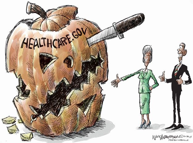 Cartoonist Nick Anderson  Nick Anderson's Editorial Cartoons 2013-10-29 health care policy
