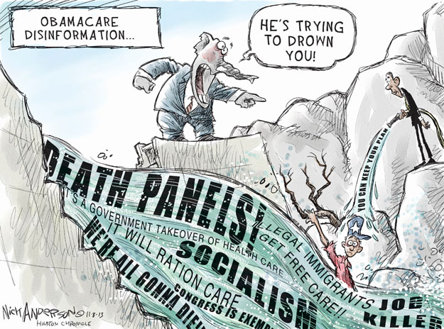 Cartoonist Nick Anderson  Nick Anderson's Editorial Cartoons 2013-11-08 health care policy