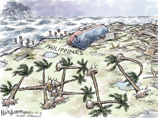Cartoonist Nick Anderson  Nick Anderson's Editorial Cartoons 2013-11-12 disaster