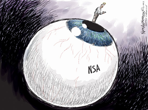 Cartoonist Nick Anderson  Nick Anderson's Editorial Cartoons 2013-12-08 national security