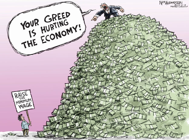 Cartoonist Nick Anderson  Nick Anderson's Editorial Cartoons 2013-12-10 inequality