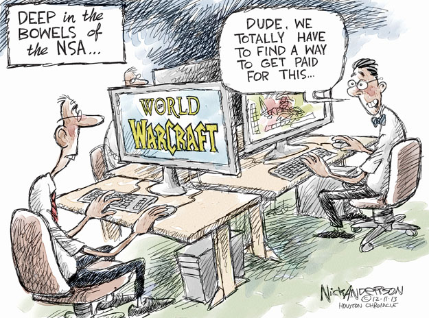 Cartoonist Nick Anderson  Nick Anderson's Editorial Cartoons 2013-12-11 national security