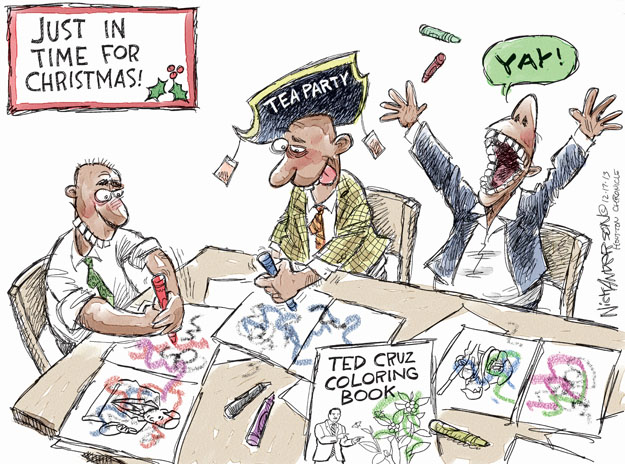 Cartoonist Nick Anderson  Nick Anderson's Editorial Cartoons 2013-12-17 tea party