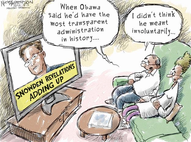 Nick Anderson  Nick Anderson's Editorial Cartoons 2013-12-18 surveillance