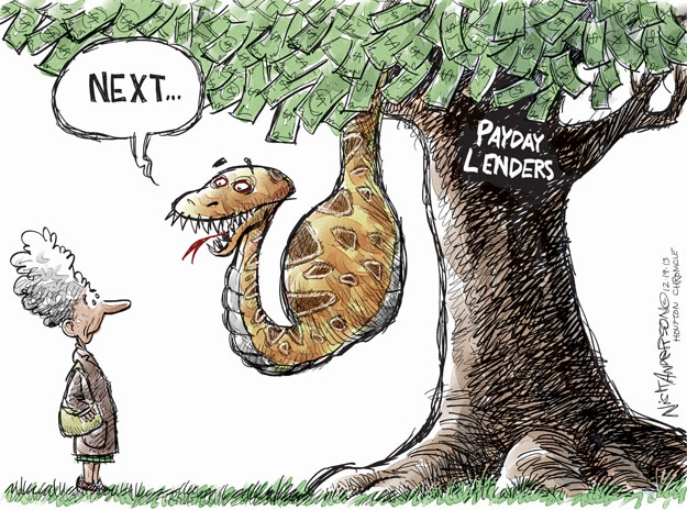 Nick Anderson  Nick Anderson's Editorial Cartoons 2013-12-19 personal finance