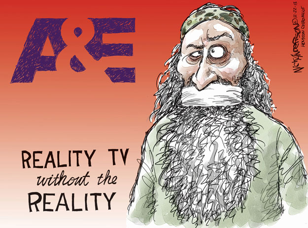 Cartoonist Nick Anderson  Nick Anderson's Editorial Cartoons 2013-12-22 reality television