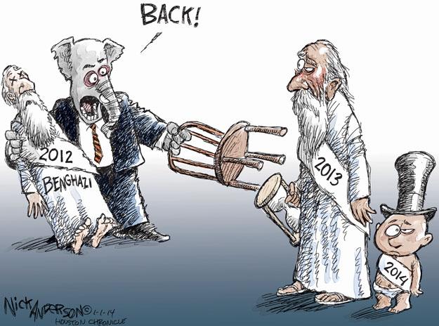 Cartoonist Nick Anderson  Nick Anderson's Editorial Cartoons 2014-01-01 New Year