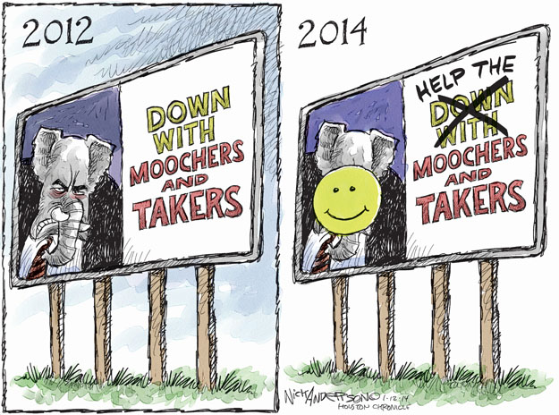 Cartoonist Nick Anderson  Nick Anderson's Editorial Cartoons 2014-01-12 inequality