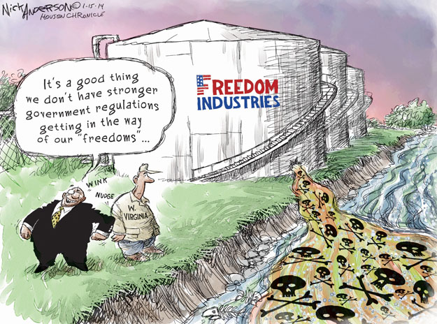 Cartoonist Nick Anderson  Nick Anderson's Editorial Cartoons 2014-01-15 chemical