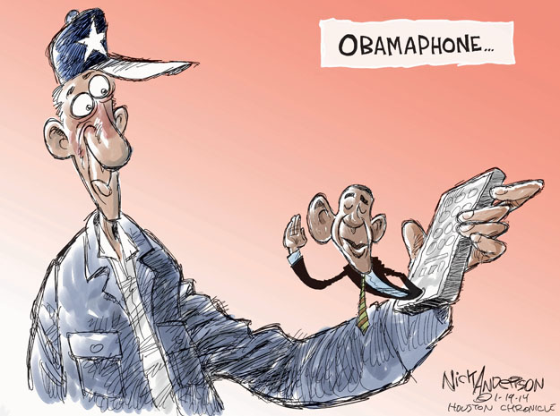 Cartoonist Nick Anderson  Nick Anderson's Editorial Cartoons 2014-01-19 government program