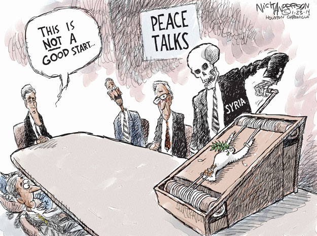 Cartoonist Nick Anderson  Nick Anderson's Editorial Cartoons 2014-01-23 peace
