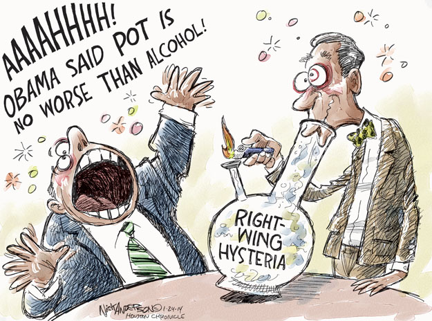 Cartoonist Nick Anderson  Nick Anderson's Editorial Cartoons 2014-01-24 smoking