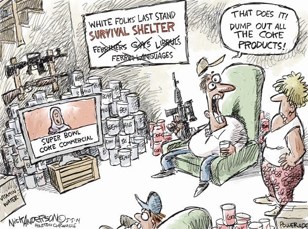 Cartoonist Nick Anderson  Nick Anderson's Editorial Cartoons 2014-02-05 weapon
