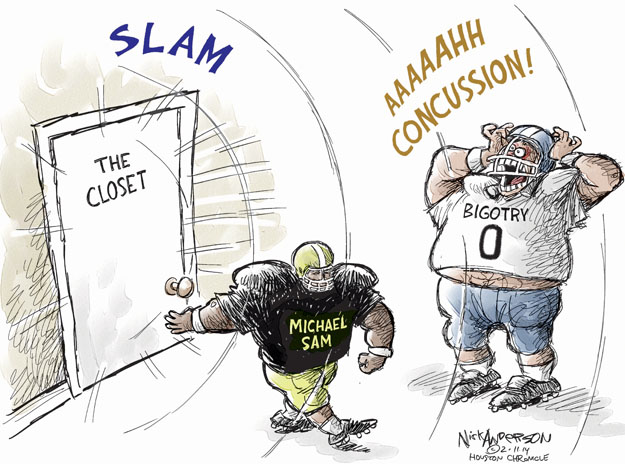 Cartoonist Nick Anderson  Nick Anderson's Editorial Cartoons 2014-02-11 Michael