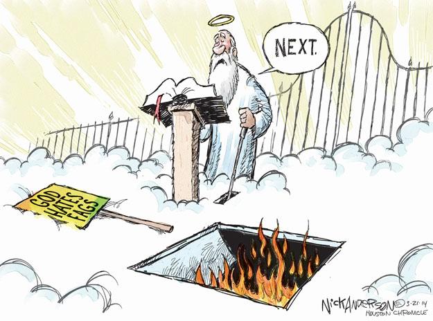 Cartoonist Nick Anderson  Nick Anderson's Editorial Cartoons 2014-03-21 intolerance