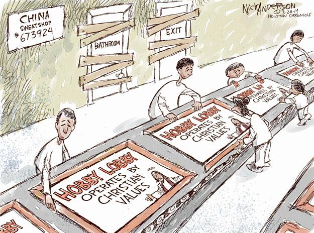 Cartoonist Nick Anderson  Nick Anderson's Editorial Cartoons 2014-03-28 values