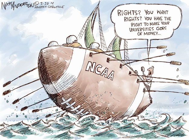 Cartoonist Nick Anderson  Nick Anderson's Editorial Cartoons 2014-03-30 college sports