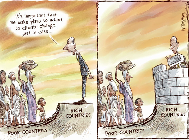 Its important that we make plans to adapt to climate change just in case … Rich countries. Poor countries.