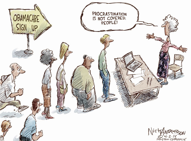 Nick Anderson  Nick Anderson's Editorial Cartoons 2014-04-02 Obamacare