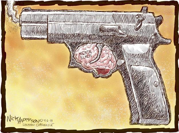Cartoonist Nick Anderson  Nick Anderson's Editorial Cartoons 2014-04-06 weaponry