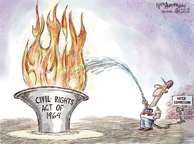 Nick Anderson  Nick Anderson's Editorial Cartoons 2014-04-11 voting rights