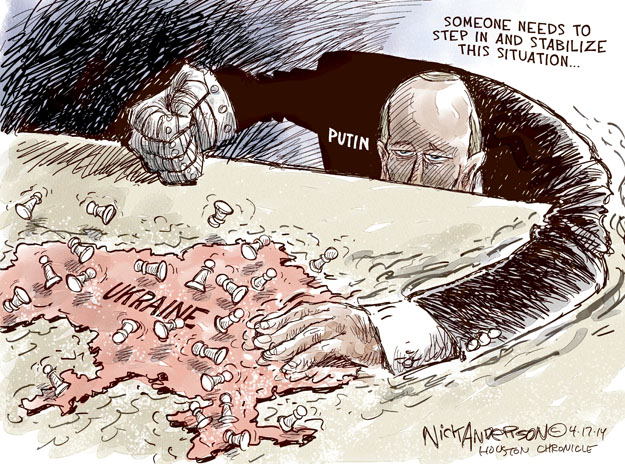 Nick Anderson  Nick Anderson's Editorial Cartoons 2014-04-17 invasion