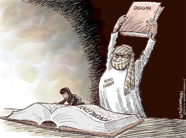 Cartoonist Nick Anderson  Nick Anderson's Editorial Cartoons 2014-05-14 extremist