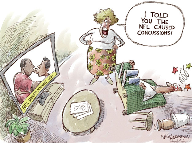 Cartoonist Nick Anderson  Nick Anderson's Editorial Cartoons 2014-05-15 Michael