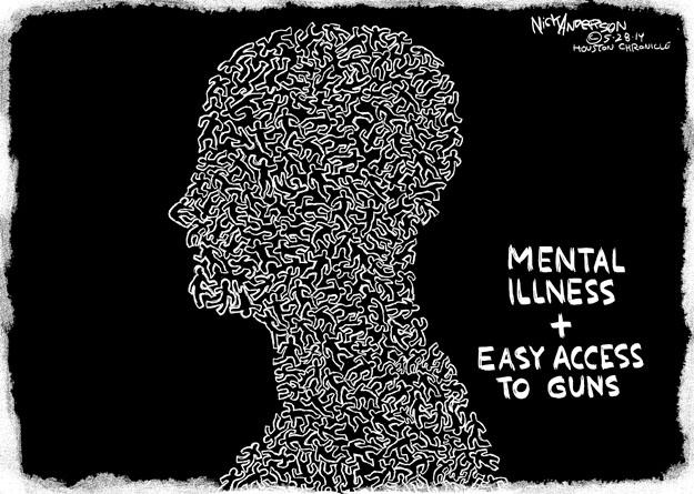 Cartoonist Nick Anderson  Nick Anderson's Editorial Cartoons 2014-05-28 mental