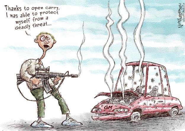Cartoonist Nick Anderson  Nick Anderson's Editorial Cartoons 2014-06-05 weapon