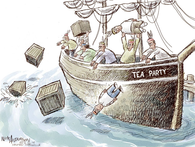 Cartoonist Nick Anderson  Nick Anderson's Editorial Cartoons 2014-06-12 tea party