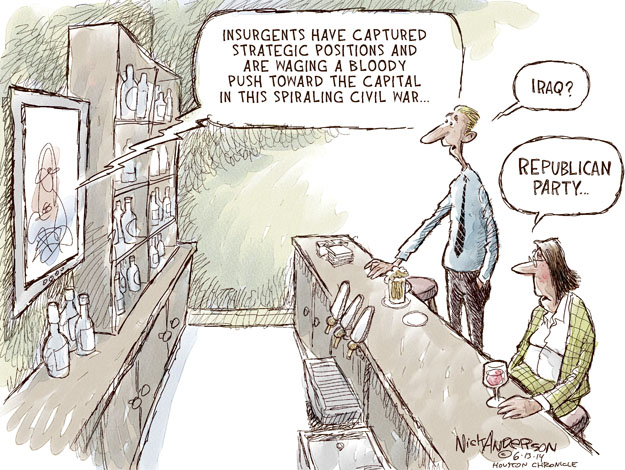 Cartoonist Nick Anderson  Nick Anderson's Editorial Cartoons 2014-06-13 tea party