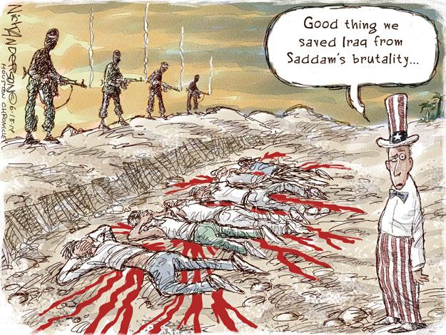 Nick Anderson  Nick Anderson's Editorial Cartoons 2014-06-18 Saddam