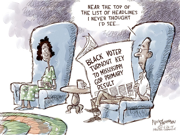 Near the top of the list of headlines I never thought Id see … Black voter turnout key to Mississippi GOP primary result.