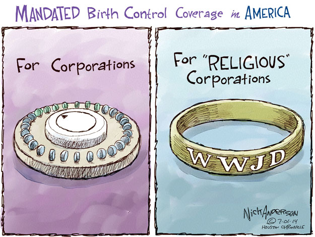 "MANDATED Birth Control Coverage in America. For Corporations. For ""Religious"" Corporations. WWJD."