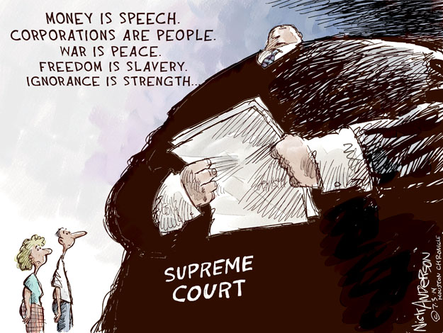 Nick Anderson  Nick Anderson's Editorial Cartoons 2014-07-03 supreme court decision