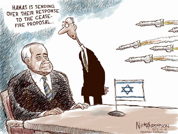 Cartoonist Nick Anderson  Nick Anderson's Editorial Cartoons 2014-07-17 Israel